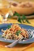 Home-made spelt noodles (Spaetzle) with sauerkraut & parsley