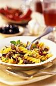 Fusilli del pecoraio (Pasta with lamb, sweetcorn & onions)