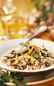 Risotto funghi e limone (Risotto with mushrooms & lemon zest)