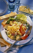 Vegetable and fruit salad with mayonnaise (from Scandinavia)