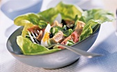 Salade nicoise with egg and tuna