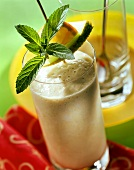 Melon milkshake with Grand Marnier and fresh mint