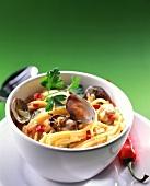 Pasta con le vongole (Spaghetti mit Venusmuscheln & Chili)