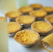 Lemon tartlets in baking cases