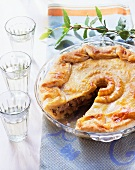 Alsatian wine-grower's pie with meat and onion filling