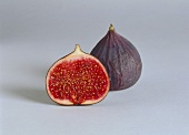 Whole and half fig