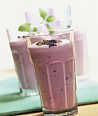 Milk shake with red grapes