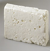 A piece of sheep's cheese
