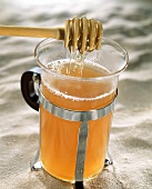 Glass of grog with honey