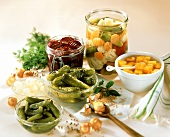 Pickled vegetables (gherkins, pumpkin, beetroot, onions etc)