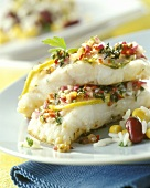 Marinated catfish with rice and beans