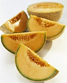 Sweet melon, cut into wedges