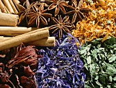 Dried herbs, flowers and spices