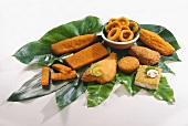 Breaded fish, fish fingers, cuttlefish rings etc