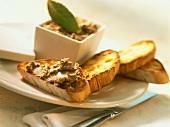Paté di fegato alla veneziana (liver pâté, Italy)