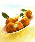 Arancini alla siciliana (rice balls), Sicily, Italy