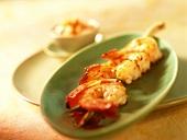Jumbo prawns with papaya mayonnaise