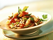 Fusilli alla messicana (Fusilli with Tex-Mex vegetables, Italy)