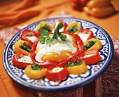 Moroccan pepper salad with yoghurt dressing