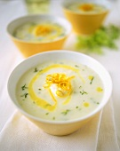 Cauliflower soup with parsley and orange zest