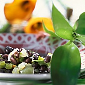 Black bean stew with green pepper (from Cuba)