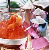 Dulce de coco (coconut dessert) & Dulce de fruta bomba (papaya)