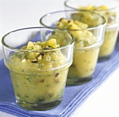 Greek potato mousse with olives and garlic