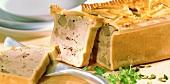 Duck pie (a piece cut)