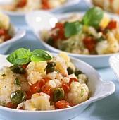 Insalata di cavolfiore (cauliflower salad with capers & tomato)