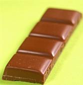 Reihe aus einer Schokoladentafel