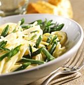Spaghetti ai fagiolini verdi (Nudeln mit grünen Bohnen)