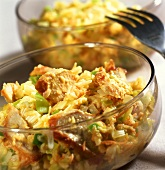 Chicken and leek salad with curry