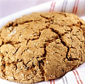 Spiced farmhouse bread on tea towel