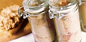 Veal liver sausage from a jar
