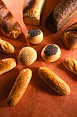 Various Scandinavian breads and rolls