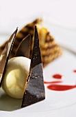 Croque Monsieur au Chocolat (belgisches Schokoladendessert)