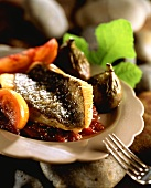 John Dory fillet with figs and sweet and sour sauce