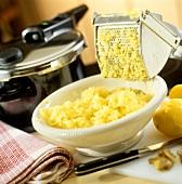 Making mashed potato with potato ricer