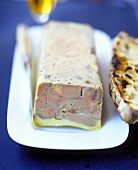 Goose liver pate with toasted bread