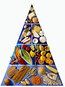 Pyramid of food for diabetics