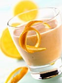 Sea buckthorn buttermilk drink with orange for diabetics