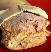 Italian white bread in paper bag