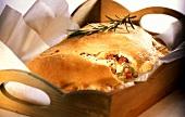 Calzone (folded pizza), Campania, Italy
