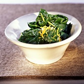 Spinaci al limone (spinach with lemon), Latium, Italy
