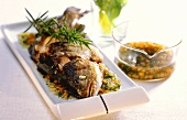 Trote al vino bianco (trout in white wine sauce with rosemary)