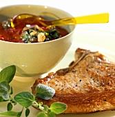 Costolette alla pizzaiola (cutlets with tomato sauce)
