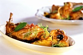 Coniglio al finocchio (rabbit with fennel and olives)