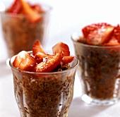 Granita di caffè con fragole (Espresso sorbet with strawberries)