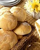 Milk rolls in bread basket