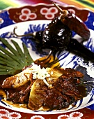 Chinese pork with pineapple, beans and chili